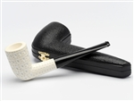 Hand Carved Stovepipe Lattice Meerschaum Pipe