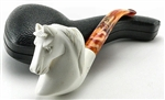 Hand Carved Horse Head Meerschaum Pipe