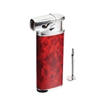Vector KGM Elio Butane Pipe Lighter with Tamper - Mahogany Marble