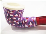 Fimo Meerschaum Pipes - Purple