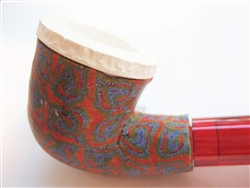 Fimo Meerschaum Pipes - Red Swirl