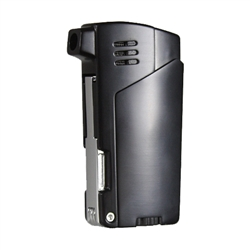 Vector KGM Gladius Butane Pipe Lighter w/Pipe Tools - Black Matte