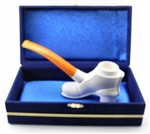 Original Shoe by Ismet Bekler Meerschaum Pipe in Velvet Chest