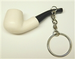 Smooth Key Chain Meerschaum Pipe