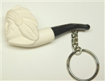 Indian Key Chain Meerschaum Pipe