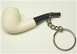 Smooth Bulldog Key Chain Meerschaum Pipe
