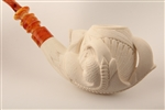 Special Hand Carved Eagle's Claw by Master Carver I. Baglan Meerschaum Pipe