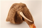 Special Hand Carved Elephant by Master Carver I. Baglan Meerschaum Pipe