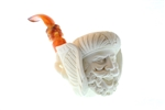 Special Hand Carved Sultan & Elephant by Master Carver I.Baglan Meerschaum Pipe