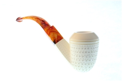Special Hand Carved Lattice Bulldog by Master Carver Emin Brothers Meerschaum Pipe