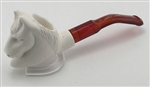 Mini Hand Carved Horse Meerschaum Pipes
