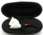 Mini Hand Carved Horse Meerschaum Pipe & Hard Case