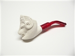 Mini Hand Carved Ram Animal Meerschaum Pipes