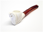 Mini Hand Carved Cobra Animal Meerschaum Pipes