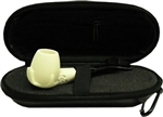 Mini Hand Carved Hand Meerschaum Pipe & Hard Case