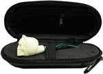 Mini Hand Carved Grim Reaper Meerschaum Pipe & Hard Case