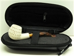 Mini Hand Carved Lattice Meerschaum Pipe & Hard Case