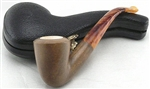 Hand Carved Colored Smooth Dublin Shape Meerschaum Pipe