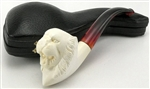 Hand Carved Tyson/Holyfield Fighting Tiger Meerschaum Pipe