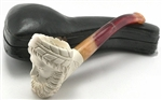 Hand Carved Greek Zeus Meerschaum Pipe