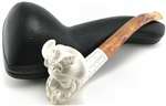 Hand Carved Laughing Viking Meerschaum Pipe
