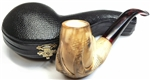 Hand Carved Colored Claw Meerschaum Pipe