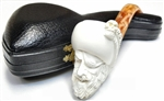 Hand Carved Smiling Pirate Meerschaum Pipe