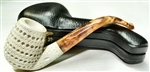 Hand Carved Round Lattice Oom Paul Meerschaum Pipe