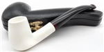 Hand Carved Smooth Long Shank Meerschaum Pipe