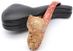 Hand Carved Colored Pirate Meerschaum Pipe