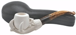 Hand Carved Smooth Claw Block Meerschaum Pipe