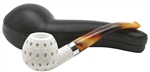 Apple Lattice Block Meerschaum Pipe