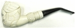 Hand Carved Eagle Knurl Stem Meerschaum Pipe