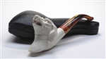 Hand Carved Floppy Eared Dog Meerschaum Pipe