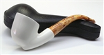 Hand Carved Freeform Angle Smooth Meerschaum Pipe