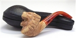 Hand Carved Colored Tiger Meerschaum Pipe