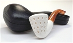 Hand Carved Dublin Teardrop Lattice with Panel Sides Meerschaum Pipe