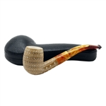 Colored 3D Lattice Billiard Block Meerschaum Pipe