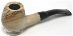 Dapper Olive Wood 9mm Brass Ring Bent Pipe