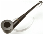 Dark Dublin German Briar Churchwarden Pipe