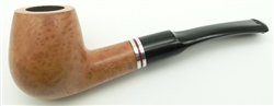Billiard with Red and Double Silver Trim Rings Colton German Briar Pipe