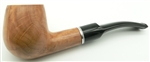Billiard with Silver and White Trim Rings Colton German Briar Pipe