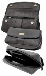 Black PU Leather Tobacco Pouch & Holder