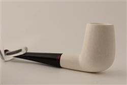 Deluxe Hand Carved Smooth Straight Meerschaum Pipe