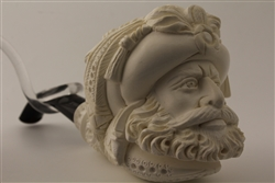 Special Hand Carved Sultan Meerschaum Pipe