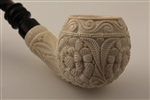 Special Hand Carved Relief Art Meerschaum Pipe