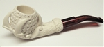 Mini Deluxe Hand Carved Claw Lattice Meerschaum Pipes