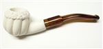 Mini Deluxe Hand Carved Panel Apple Meerschaum Pipes
