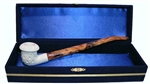 Standard Calabash Lattice Churchwarden Meerschaum Pipes with Velvet Chest