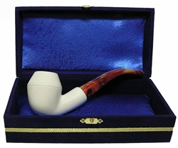 Standard Bulldog Smooth Meerschaum Pipes with Velvet Case
